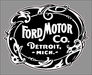 Image Is Loading Vintage Ford Motor Company Logo Premium Vinyl Decal