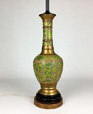 "Beautifull Vintage Antique Asian Oriental Cloisonné Champleve Lamp 28"" Tall"