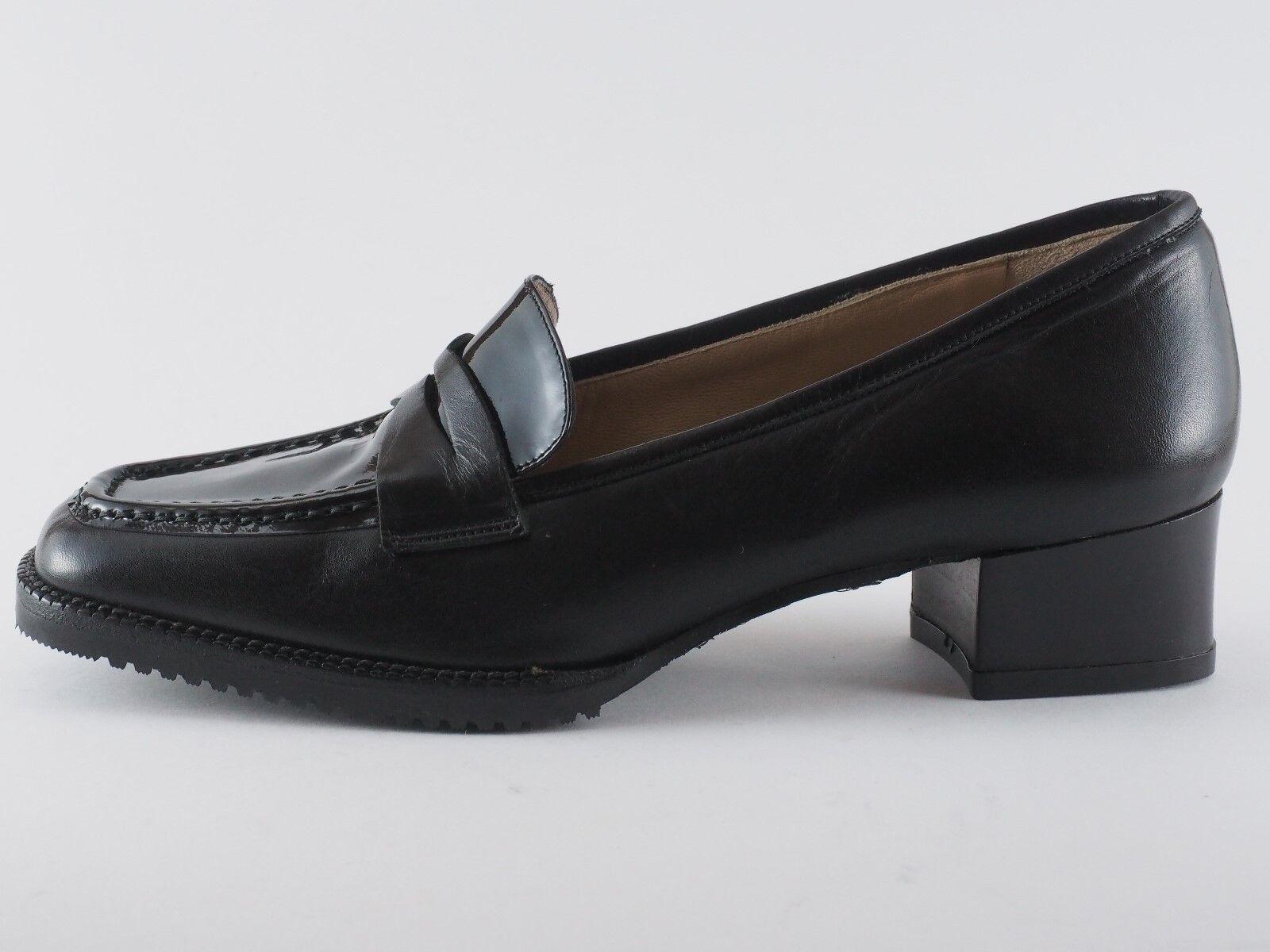 GIORGIO FIORETTI Damen Schuhe 36 38,5 41,5 Leder Lack Schwarz Pumps NEU