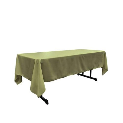 "New Creations Fabric And Foam 60/"" x 108/"" Rectangular Polyester Poplin Tablecloth"