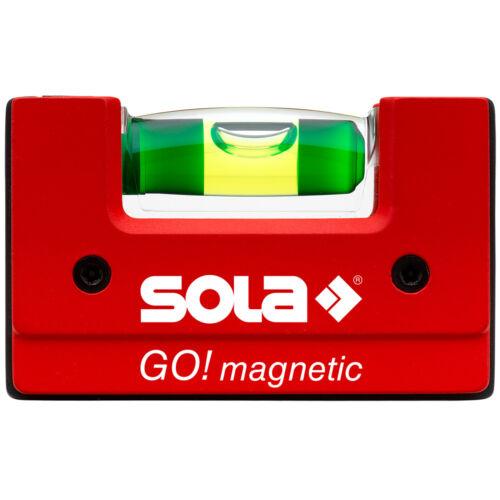 magnetic CLIP Kompakt Wasserwaage mit Gürtelclip Sola GO