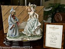 "Mint & COA~Limited Edition Giuseppe Armani Disney ""Cinderella & Fairy Godmother"""