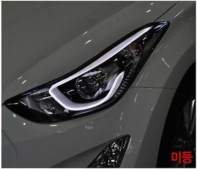 Projection LED HeadLamp Lights For Hyundai 2011-2015 Elantra Avante MD OEM Parts