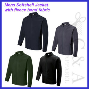 Men/'s Soft Shell with textured Ripstop weave Finish Casual Jacket with Pockets