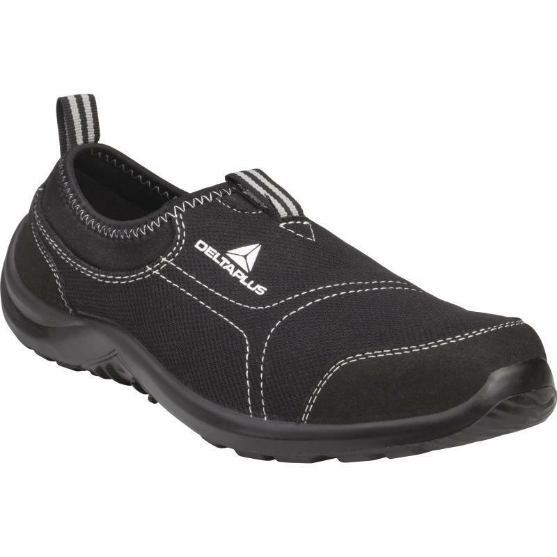 Delta Plus Miami S1P Black Safety shoes - Canvas Slip-On shoes