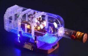 Julite custom led lighting kit for lego 21313 ship in a