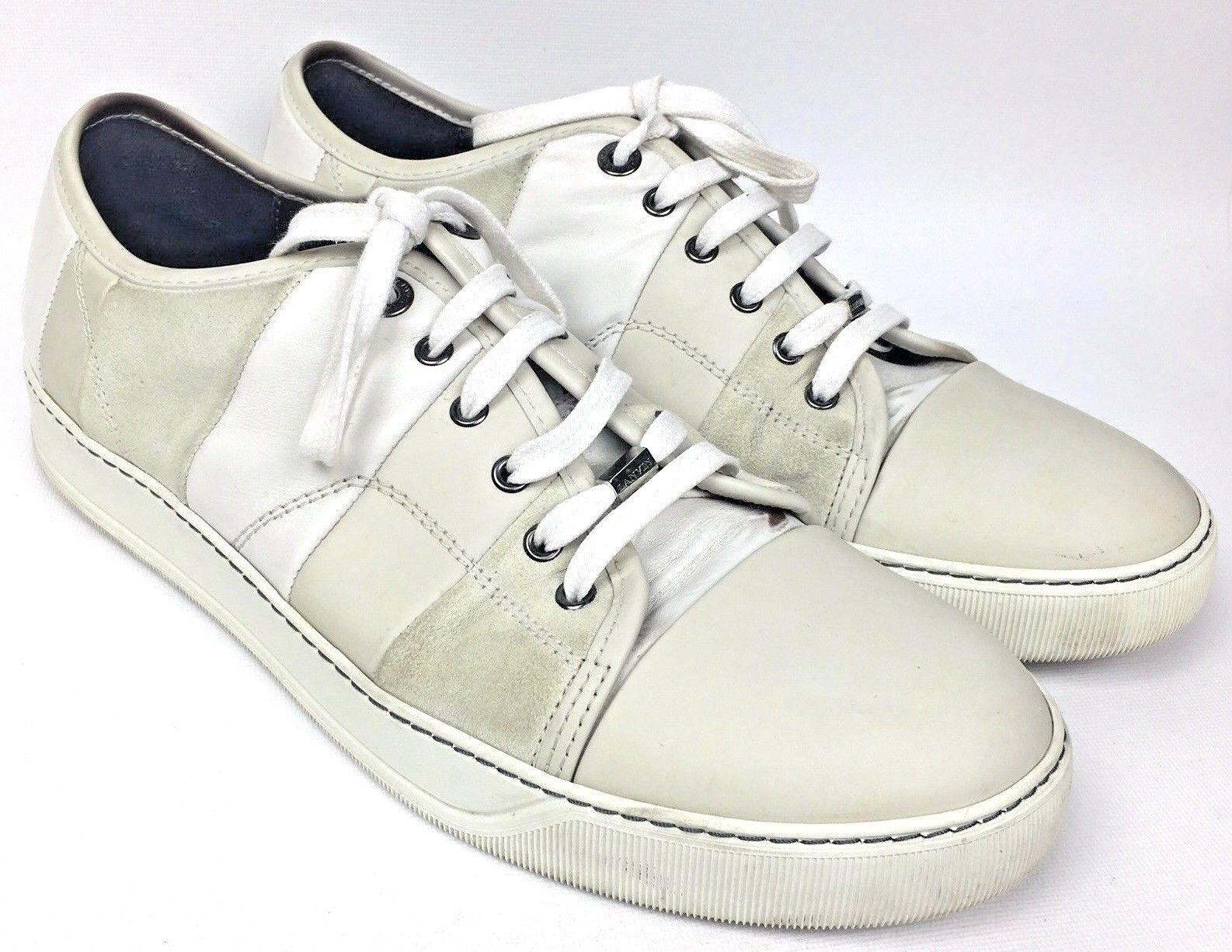 LANVIN Lacets Homme Cuir Daim Baskets Chaussures Taille UK 10 US 11