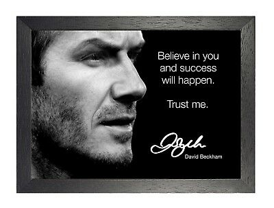A3 David Beckham INSPIRATIONAL MOTIVATIONAL FAMOUS QUOTE POSTER PRINT #33
