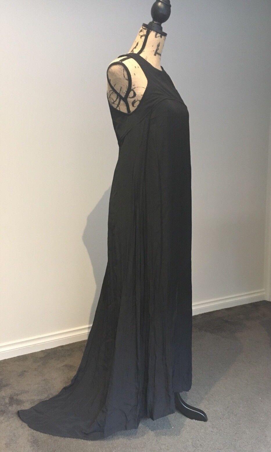 NWT Scanlan Theodore Asymmetrical Asymmetrical Asymmetrical Long Dress Size 10AU  6US RRP 500 cb336f