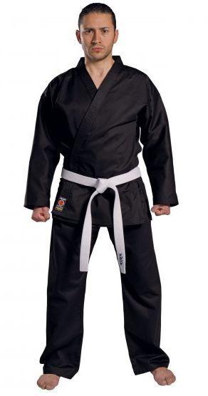 Kwon Karate-Anzug Traditional schwarz 8 oz, Größen 150 - 200
