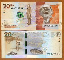 Colombia, 20000 (20,000) Pesos 2015 (2016), P-New, AA-Prefix, UNC