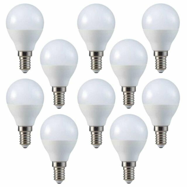 COOL WHITE STATUS LED CANDLE BULB 5.5W=40W BC//B22   1 2 3 4 6 8 OR 10 BULBS