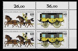 CompéTent Bund Brd Minr Zd 1255 + 1256 Cachet ** Paire Coin 2-afficher Le Titre D'origine Prix De Vente Directe D'Usine