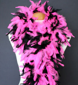 Great For Halloween Costume Parties. Black And Purple Chicken Feathered Boa