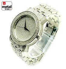 Men's Hip Hop Fashion Analog Stainless Steel Metal Mesh Band Watches 7864 SL