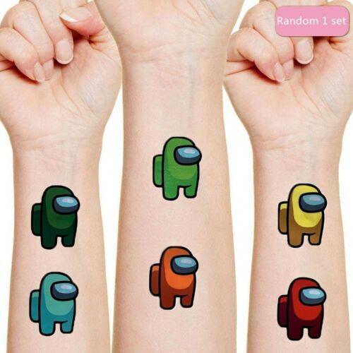 Details about  /Among Us Originales Tattoo Sticker Random 1Set Action Figure AmongUs Cartoon