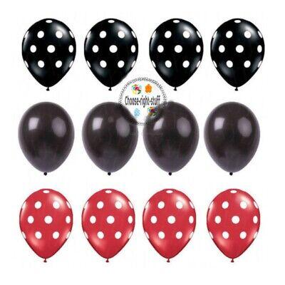 "12/"" Big Pois Ballons Hélium//Air Qualité Pois baloons rubans balon Ribon"