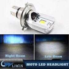 2*H4 6500K COB LED Motorcycle Moped Hi/Low Lamp Headlight Bulb For H onda Moto