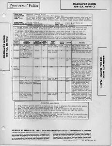 Details about 1948 MAGNAVOX 151B RADIO SERVICE MANUAL PHOTOFACT SCHEMATIC  DIAGRAM CR-197C FIX