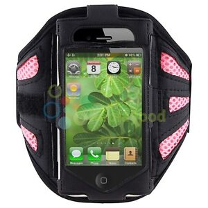Gym-Exercise-Black-Sport-Armband-Pouch-Case-Holder-Cover-For-Apple-iPhone-4-4S