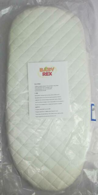 DELUXE QUILTED PRAM SAFETY MATTRESS for Silver Cross Wilson Balmoral Twin Double