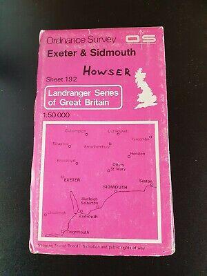 100% Waar Vintage Landranger Os Ordnance Survey 1:50 000 Map Sheet 192 Exeter & Sidmouth Zorgvuldig Geselecteerde Materialen