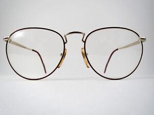 6ee787a56780 Benelton Boston 11 Eyeglasses Frames 53-18 Gold Red 140mm Womens ...