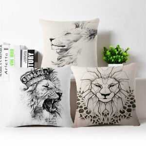Roaring-lions-Cotton-Linen-Throw-Pillow-Case-Cushion-Cover-Home-Decor-18-034-18-034