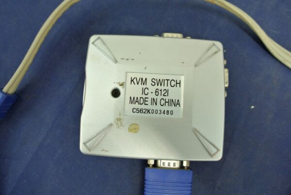 100% Waar Kvm Switch, Ic-6121, Qvs, Control Two Pc's From One Keyboard