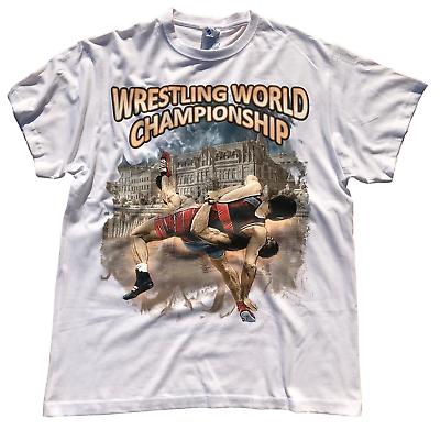 White Ringer T-Shirts Wrestling T-Shirt Tee Sport Lutte Ringen Grappling