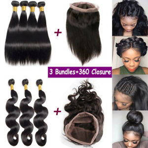 Pre-Plucked-360-Lace-Frontal-Closure-With-3-Bundles-Virgin-Human-Hair-Weave-B552