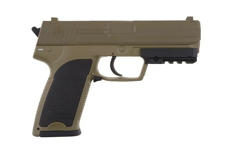 Softair Pistole Metall CM125 AEP Bundeswehr 0,50J 6mm TAN TAN TAN CYMA Akku Speedloader dc6476