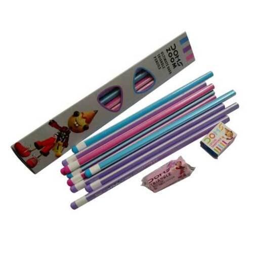 For Kids 60 x Doms Zoom Ultimate Dark Triangle Pencils 6eraser free 6sharpner