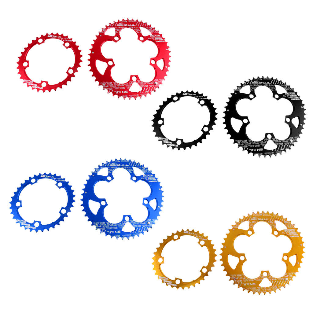 Bike Chainring  Set Double Oval Chainring BCD 110mm Bicycle Chain Ring 35 50T  cheap online