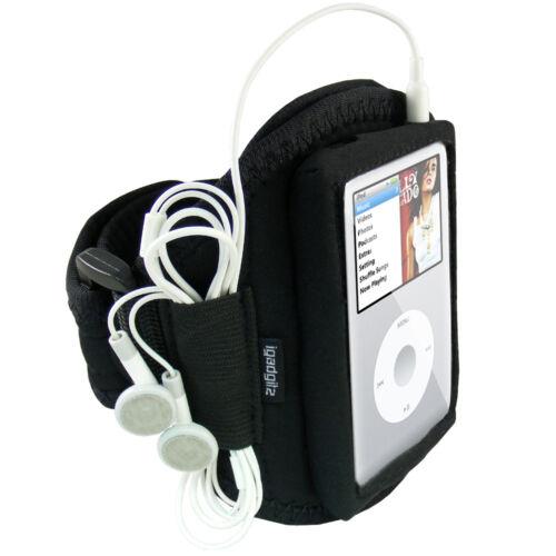 Black Sports Armband for Apple iPod Classic 80gb 120gb 160gb Gym Running Jogging