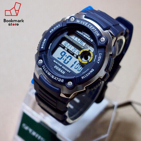 "New"" CASIO Sports Gear Radio Control Watch 20BAR Navy WV-M200-2AJF Men's F/S"