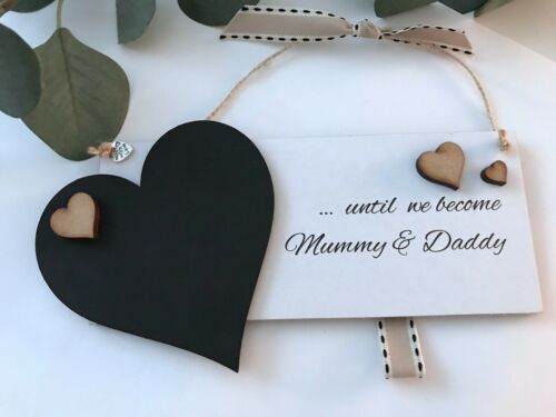 Mummy /& Daddy New Baby CountdownChalkboard Plaque Gift Pregnancy Baby Shower P58