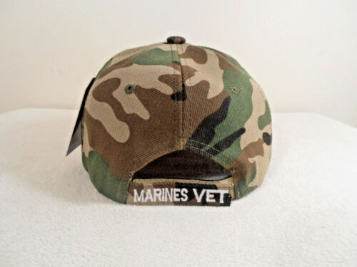MARINES VETERAN HAT CAMOUFLAGE WITH SHADOW MILITARY CAP U S