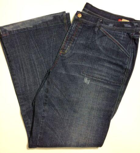 taglia Denim Wash Blue 37 Flare Dark 7 Distressed Seven Stretch Jeans qxwTOavXE