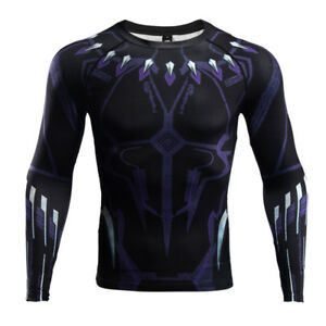 ad8e5ae6048e Raglan Sleeve Black Panther 3D Printed T shirts Men Compression ...