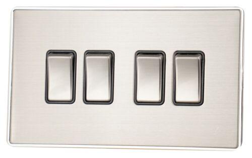 Screwless en acier brossé LSS3 Branchez Douilles fusible interrupteurs gradateurs Cuisinière