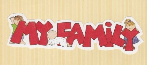 """FRAME UPS DIE CUTS  MY MIND/'S EYE  /"""" MY FAMILY /""""  TITLE"""