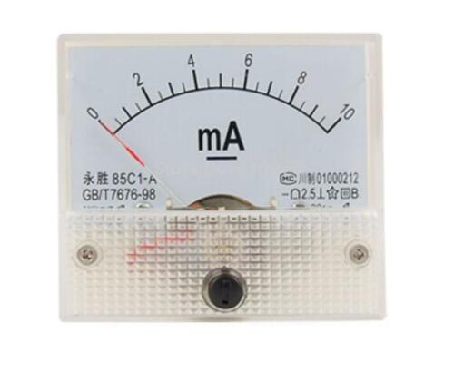 85C1-A DC 0-10 mA gamme actuelle de mesure Vertical Analog Meter Ampèremètre Gauge