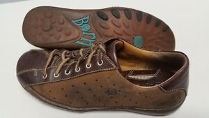 Born-Size-9-Womens-Oxford-Shoes-Brown-Leather-Casual-Comfort-Lace-Up-GUC