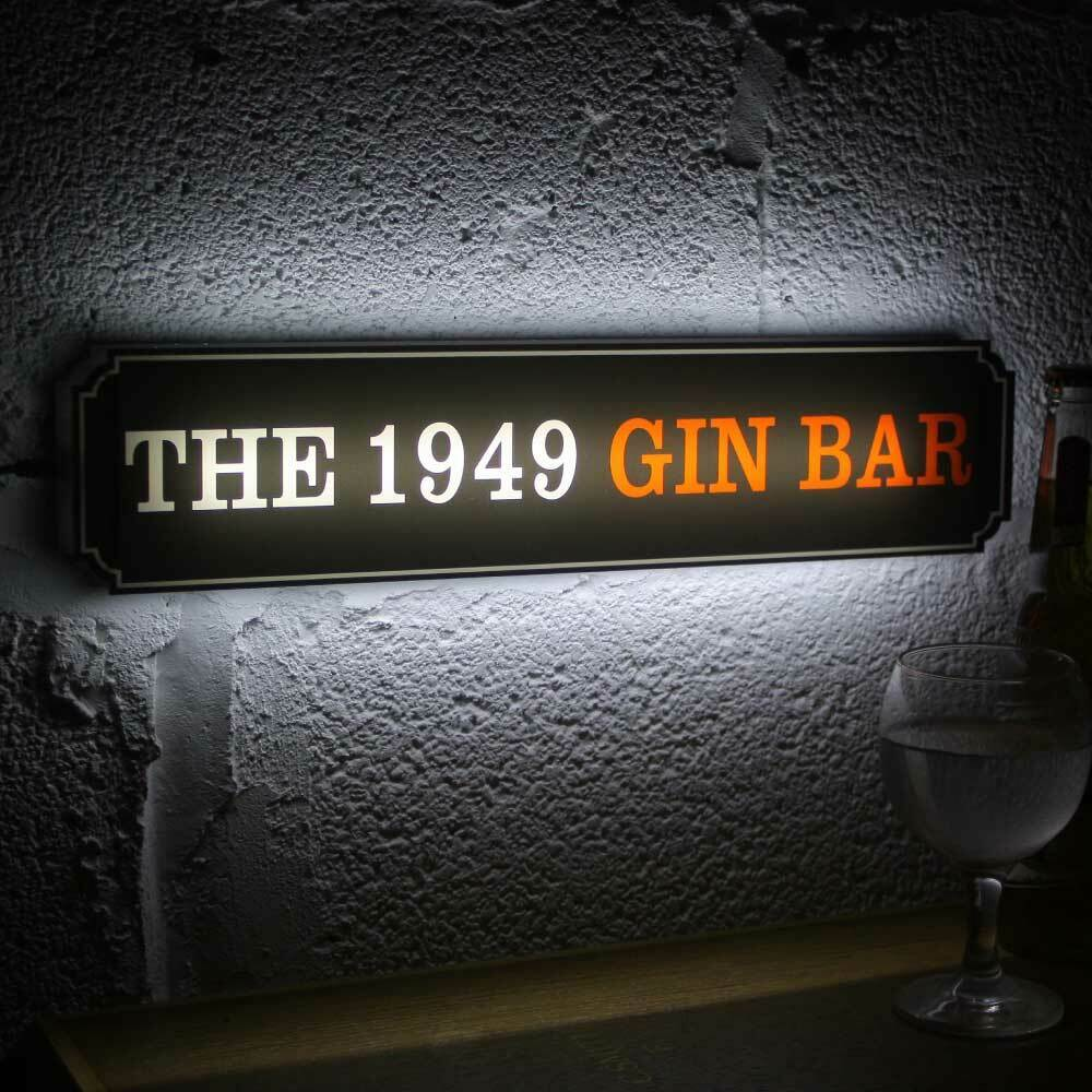 Personalised LED Light-up  Man cave sign, HOME BAR NEON SIGN Vintage Road Sign