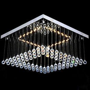 Das Bild Wird Geladen LED Kristal Deckenleuchte Wohnzimmer Leuchte Deckenlampe Kronleuchter Luester