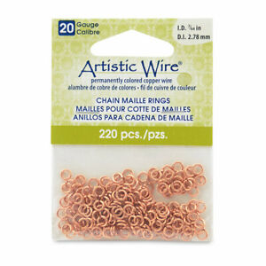 20-Calibre-Artistic-Wire-Cadena-Malla-Anillos-Redondo-Natural-0-3cm-2-78MM
