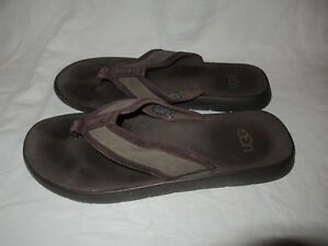 1503880b8f651 UGG Australia Makohe Brown Men s Size 12 Flip Flop Sandals Shoes ...