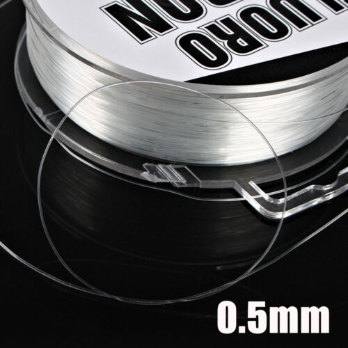 Invisible Wire Fishing Line Polyester Bait  FluoroCarbon Elastic Thread Spool