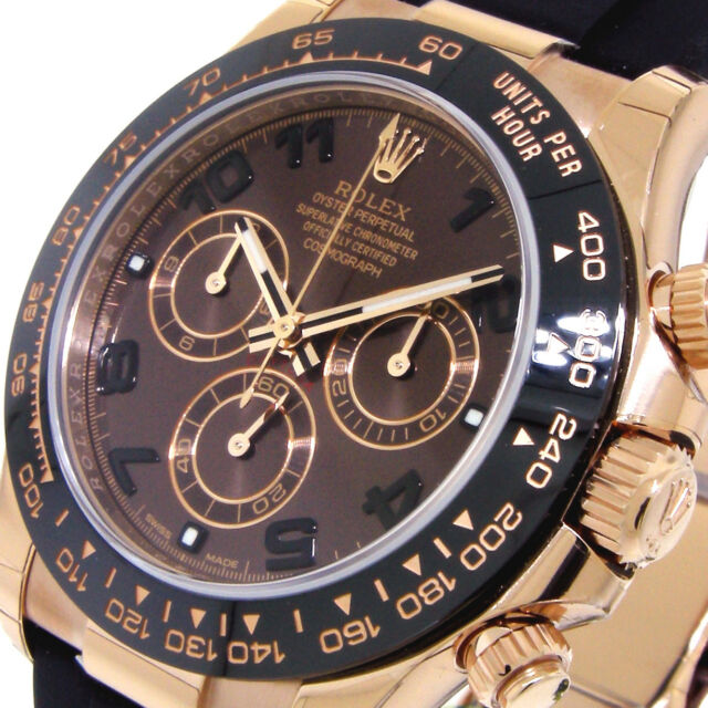 Rolex Cosmograph Daytona Black Dial 18k Rose Gold Automatic Men S